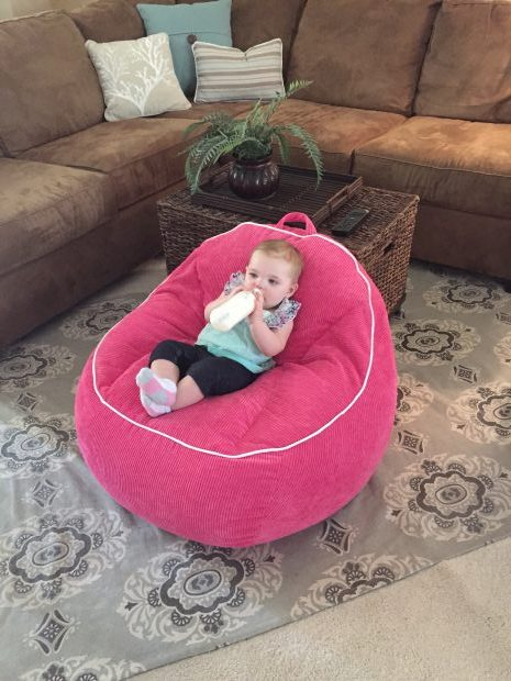 LC in beanbag chair