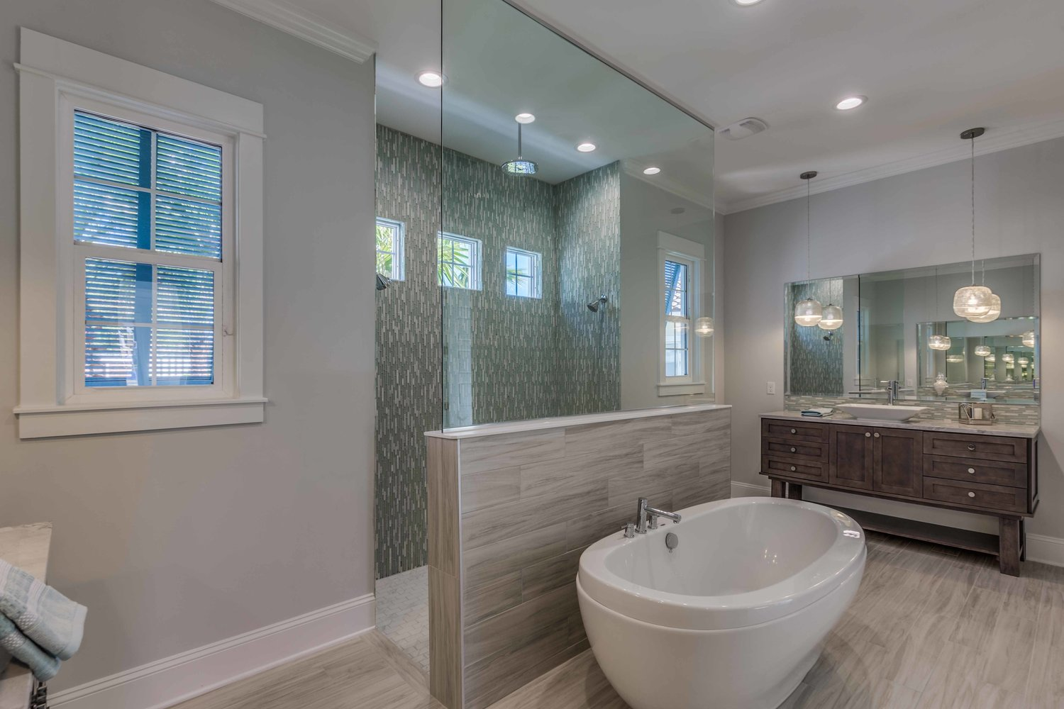 Owners bath new construction consult tile 1 jones sweet for Bathroom designs companies