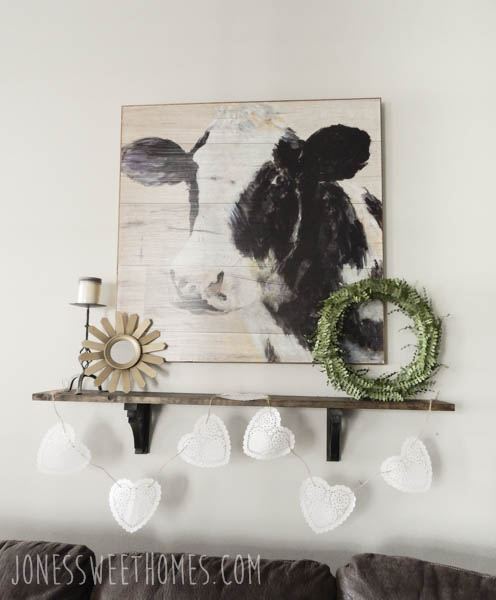 Quick & Easy Farmhouse Shelf DIY - Jones Sweet Homes Blog
