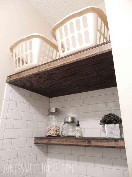 Farmhouse Laundry Room Tour - Jones Sweet Homes blog