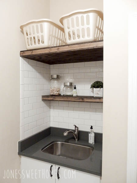 Farmhouse Laundry Room On A Budget - Jones Sweet Homes blog