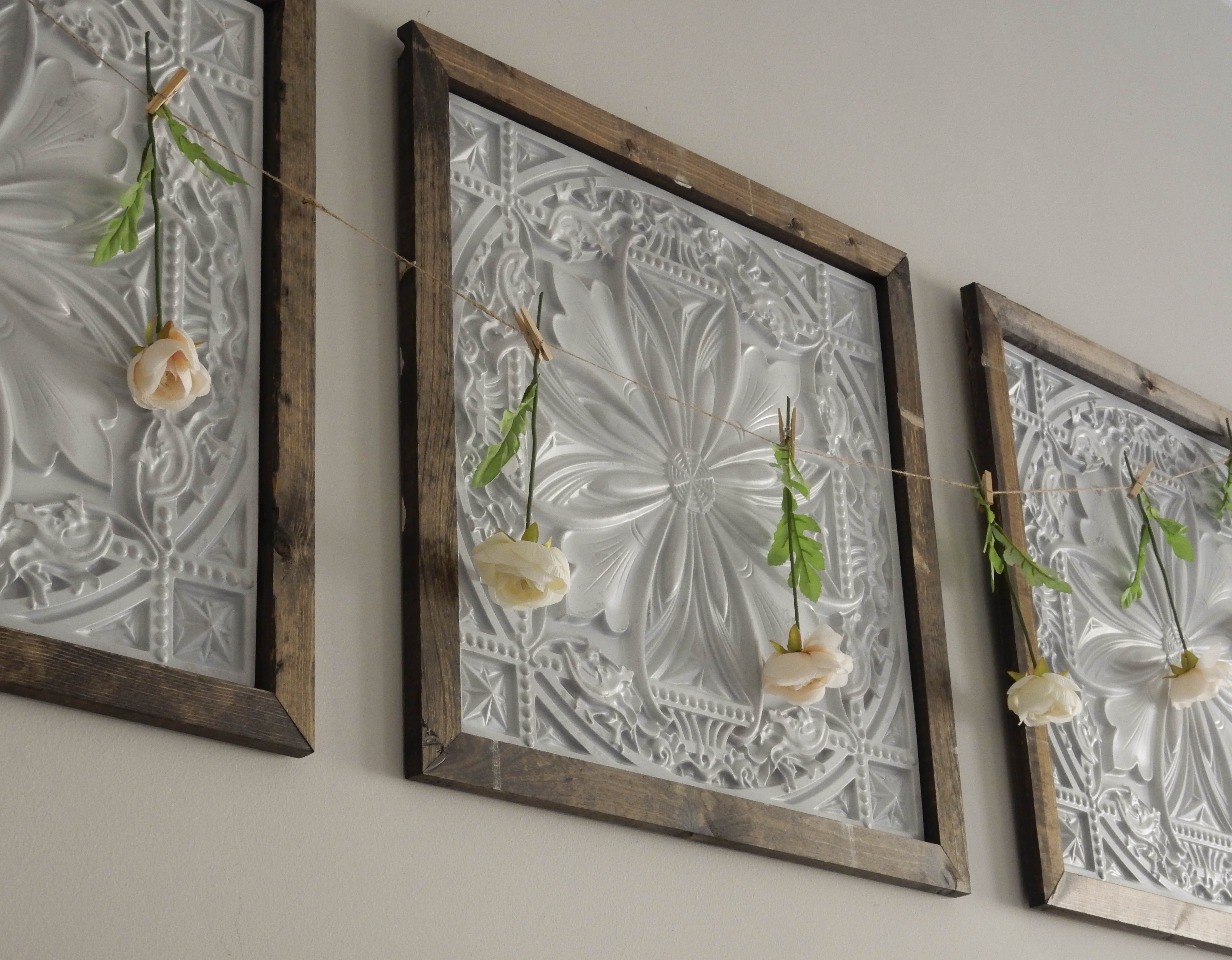 Faux Tin Panel Wall Art Diy Jones Sweet Homes