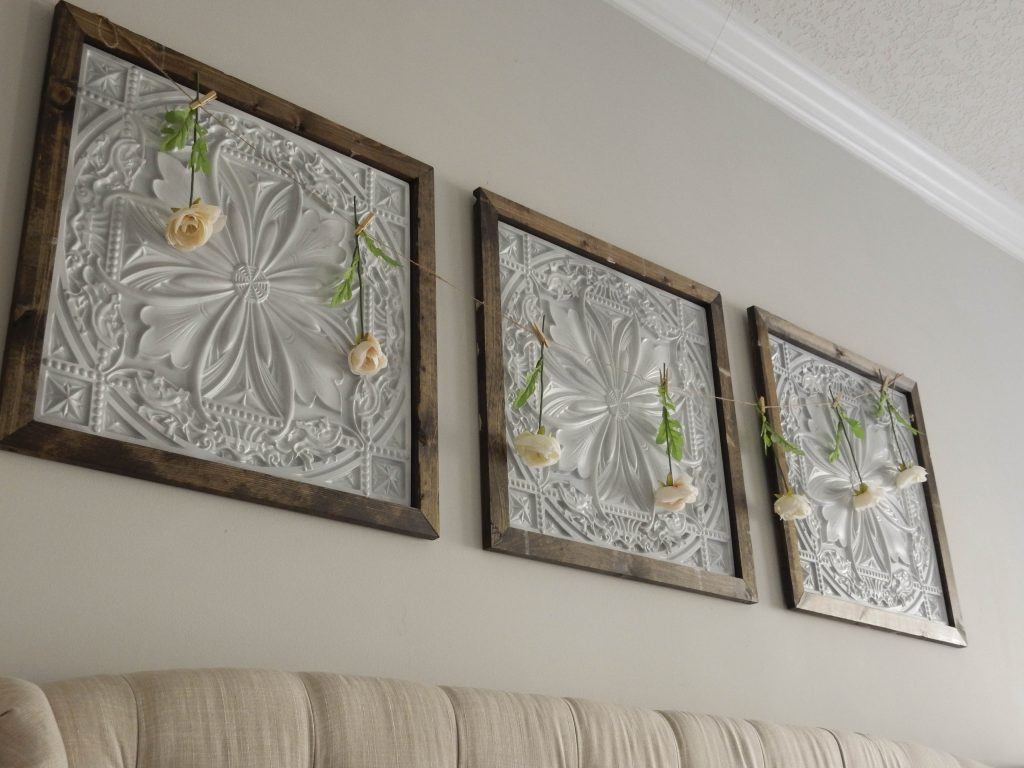 Faux Tin Panel Wall Art DIY - Jones Sweet Homes blog