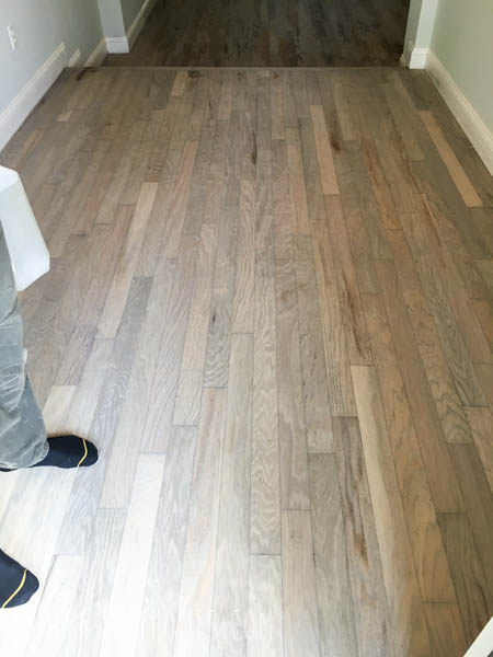 Grey Wood Floor Stain - Jones Sweet Homes blog